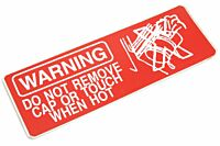 Aufkleber WARNING do not remove cap… (rot)