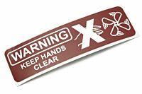 """Aufkleber """"WARNING keep hands clear"""" (Lüfter)"""