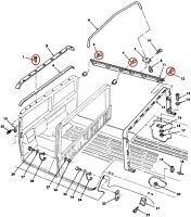 Schraube befestigung Verdeck - Seitenleiste