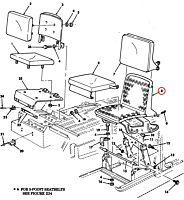 Sitzgestell Fahrer A0 HMMWV